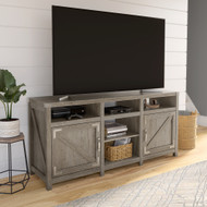 Kathy Ireland Home by Bush Furniture Cottage Grove 65W Farmhouse TV Stand for 70 Inch TV in Restored Gray - CGV165RTG-03
