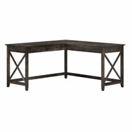Bush Furniture Key West 60W L Shaped Desk in Dark Gray Hickory - KWD160GH-03