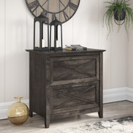 Bush Furniture Key West 2 Drawer Lateral File Cabinet in Dark Gray Hickory - KWF130GH-03