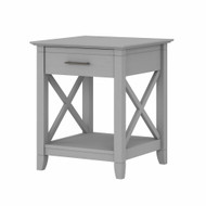 Bush Furniture Key West Nightstand with Drawer in Cape Cod Gray - KWT120CG-Z