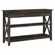 Bush Furniture Key West Console Table with Drawers and Shelves in Dark Gray Hickory - KWT248GH-03