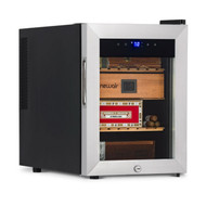 NewAir 250 Count Electric Cigar Humidor Wineador in Stainless Steel - NCH250SS00