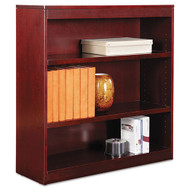 Alera Square Corner Wood Bookcase Three-Shelf Medium Cherry - ALEBCS33636MC