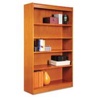 Alera Square Corner Wood Bookcase Five-Shelf Medium Cherry - ALEBCS56036MC