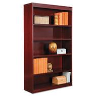 Alera  Square Corner Wood Veneer Bookcase Five-Shelf Mahogany - ALEBCS56036MY
