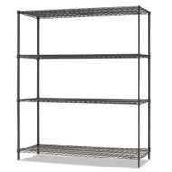Alera All-Purpose Wire Shelving Starter Kit 4-Shelf 60 x 18 x 72 Black Anthracite Plus - ALESW206018BA