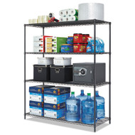 Alera All-Purpose Wire Shelving Starter Kit 4-Shelf 60 x 24 x 72 Black Anthracite Plus - ALESW206024BA