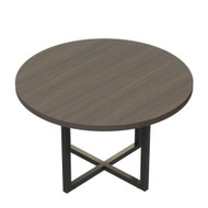 """Mayline Mirella Round Conference Table 42"""" Southern Tobacco - MR42RSTO"""