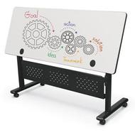 "alt Height Adjustable Sit Stand Flipper Table Marker Board Top 60""W x 24""D - 90317-MRKR-BK-72"