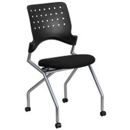 Flash Furniture Galaxy Mobile Nesting Chair with Black Fabric Seat - WL-A224V-GG