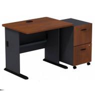 Bush Series A Desk with 2 Drawer Mobile Pedestal Hansen Cherry - SRA029HCSU