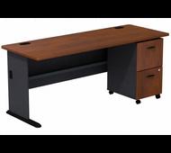 Bush Series A 72W Desk with 2Dwr Mobile Pedestal (Assembled) - SRA028HCSU