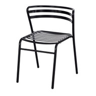 Safco CoGo Steel Stacking Chair in Black (Set of 2) - 4360BL