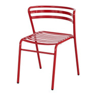 Safco CoGo Steel Stacking Chair in Red (Set of 2) - 4360RD