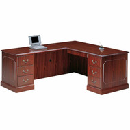 """HON 94000 Series L Shaped Desk Workstation with Left Return 72"""" x 84"""" - HONPackage3"""