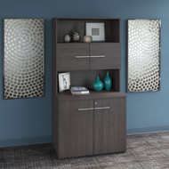 Bush Business Furniture Office 500 Collection 36W Tall Storage Cabinet with Doors and Shelves Storm Gray - OF5008SGSU