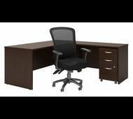 Bush Series C 72W L Desk w File and Custom Comfort High Bk Chair - SRC131MRSU