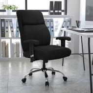Flash Furniture HERCULES Series Big & Tall 400 lb. Rated Black Fabric Ergonomic Task Office Chair - GO-2031F-GG