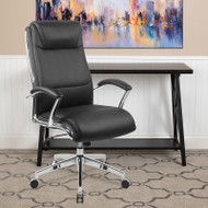 Flash Furniture High Back  Black LeatherSoft Executive Swivel Office Chair with Chrome Base - GO-2192-BK-GG