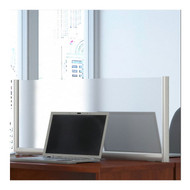 """Bush Business  Privacy Screen 48""""W Desk Divider Frosted Acrylic - PSP148FR"""