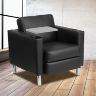 Flash Furniture Black LeatherSoft Guest Chair with Tablet Arm - BT-8219-BK-GG