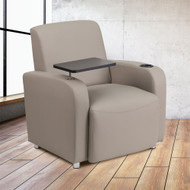 Flash Furniture Gray LeatherSoft Guest Chair with Tablet - BT-8217-GV-GG