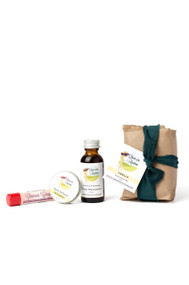 Body Gift Set includes : Facial Moisturizer, Solid Perfume, Solid Lotion Bar, and Lip Balm of your choice.
