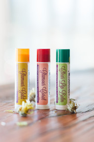 Trio of Lip Balms, 0.15 oz (Glamour Gold, Glamour Coral, Clear Lip Balm)