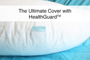 "Premium Bamboo Terry - Pregnancy and Nursing / Feeding Pillow Cover with HealthGuard for ""The Ultimate Pillow"""