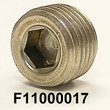 "F11000017 1/8-27 x 0.30(19/64"") NPT, SS316, STAINLESS SOCKET HEAD PIPE PLUG, COO:US"