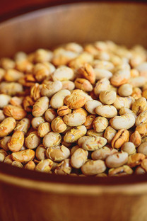 10 pounds of Tosteds dry roasted Laura® soybeans in 4 - 2.5 pound resealable pouches.