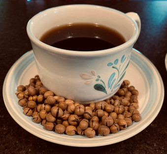 Medium roast Lauracoffee made with roasted Laura® Soybeans