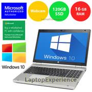 HP Elitebook 8560p Laptop - Webcam - Core i5 2.5GHz - 16GB DDR3 - 120GB SSD - DVDRW - WEBCAM