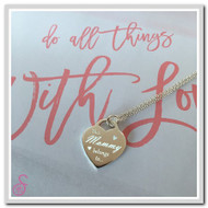 "Sterling Silver ""This Mommy belongs to..."" Necklace - Front"