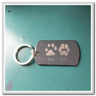 Two Pawprint Keychain