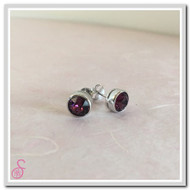Birthstone Ear Stud - Amethyst (February)