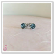 Birthstone Ear Stud - Aquamarine (March)