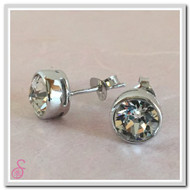 Birthstone Ear Stud - Crystal (April)