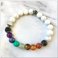 Chakra with Howlite Diffuser Bracelet