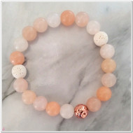 Moonstone and Lava Diffuser Bracelet