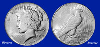 1927 Peace Dollar XF-BU