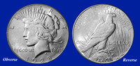 1928-P Peace Dollar XF-BU