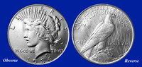 1934 Peace Dollar XF-BU