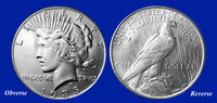 1935 Last-Year-of-Issue Peace Dollar XF-BU