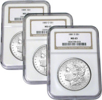 MS63 Certified Morgan Silver Dollar