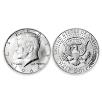 First-Year-of-Issue 1964 Kennedy Silver Half Dollars - Brilliant Uncirculated