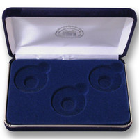 3-Coin Velour Display Case