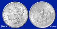 1890-O Morgan Silver Dollar - Brilliant Uncirculated Condition