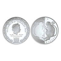 2016 Mirror Monkeys $5 Silver Coin
