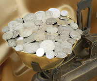 Solid Silver Coins By The Pound - Quarter Pound Bag